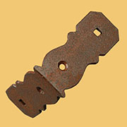 """C"" Slat Clamp for Wood Trunk Strips L Shape Rusty Iron DV-02010637"