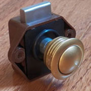 L-9291D Satin Brass Finish Push Button Knob