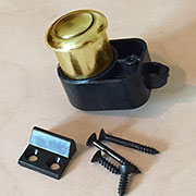 Boat RV Cabinet Push Button Latch L-5100P in Brass
