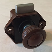 Boat RV Cabinet Push Button Catch Latch in Brown L-9291B