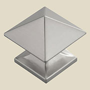 Satin Nickel Pyramid Knob P-3015-SNHHERSH