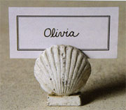 Aquatic Nautical Cast Iron Sea Scallop Shell Placecard Holder Homart HA-1562-8
