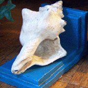Aquatic Nautical Cast Iron Seashell Bookends Homart HA-1647-61