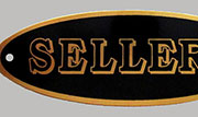 Sellers Oval Brass Nameplate Label B-1510 HSL-4