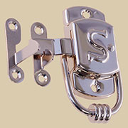 Sellers Letter S Embossed Nickel Latch Right Hand KC-24N BM-1596PN
