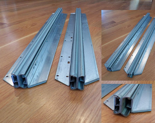 Perfect Pair Of Extra Strong Low Profile Metal Table Slides D 1569U