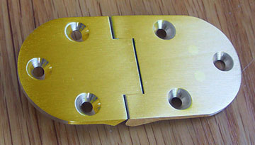 Oval Butler Tray Table Hinge Solid Brushed Brass H 3640RDP Sold By Each