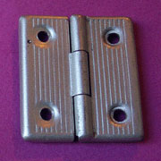 Nickel Art Deco Trunk Hinge Pair Matt Finish  BV-SHNP2