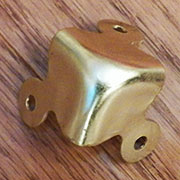 Brass Plated Steel Trunk Corner OBF-3BP D-4434