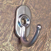 Very Small Satin Nickel Wall Hook KB-3SNHERSH