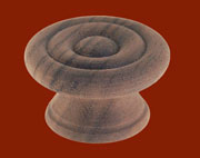 1.5 Inch Turned Walnut Knob BM-4386