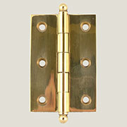 Solid Brass Butt Hinge Ball Tipped H-813