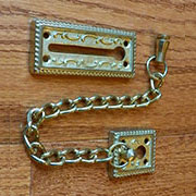 Solid Brass Victorian Design Door Chain Lock TR-R5605P