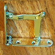 Combination Drop Front Desk Lid Hinge and Stay, Solid Brass  H-7 Angle