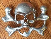 Skull and Cross Bones Belt Buckle OBC-1870