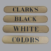 Spool Cabinet Drawer Decal Label 4 Piece Set Clarks. H-1020