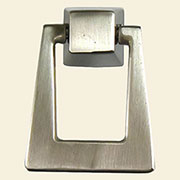 Square Mid Century Brushed Nickel Drop Pull N-1292