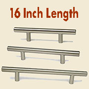(E)Stainless Steel Bar Pull HC-9527-100 16 Inches Long