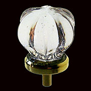 Star Shaped Glass Knob with Brass Base C-0322C BM-5307PB