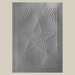 """E"" Star Pie Safe Tin Unplated 10x14 Inches T-2201"