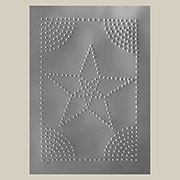 """E"" Plated Star Pie Safe Tin Plated 10x14 Inches TP-2201"