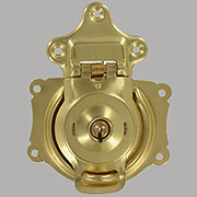 Brass Spring Loaded Trunk Lock & 2 Keys OBG-3BP/D-3835