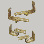 Cafe Door Hinges Pair In Brass Plated Steel For Two Swinging Bar Doors  HTC 8479P