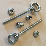 Cheval Swivel Mirror Mount Screw Bolt Fastener Set Brushed Nickel Plated M6-SNHRSH