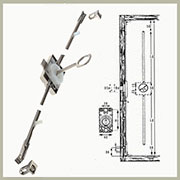 DISCONTINUED, WILL NOT SHIP. Cabinet Tall Door Lock Latch 82 Inch in Nickel L3ESPV1
