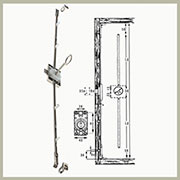 Wardrobe Door Latch Tall Cabinet Door Lock 82 Inch in Nickel L3ESPV1