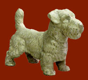 Homart White Cast Iron Terrier Dog Door Stop HA-1568-6
