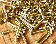 Tiny Brass Nails 2 Ounce Lot 1/2 Inch Long D-3500A