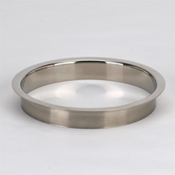 (D) 6x1 Inch Polished Stainless Steel Trash Trim Ring Grommet Countertop  Trim Ring HC-6143-179