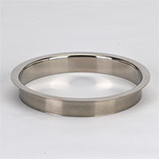 (C) 6x1 Inch Brushed Stainless Steel Trash Trim Ring Grommet Countertop Trim Ring HC-6143-100