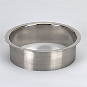 (E) 6x2 Inch Polished Stainless Steel Trash Trim Ring Grommet Countertop Trim Ring HC-6143-279