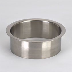 (B) 5x2 Inch Brushed Stainless Steel Trash Trim Ring Grommet Countertop Trim Ring HC-6145-100
