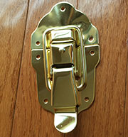 Trunk Draw Bolt Latch in Brass Very Large OBG-30BP/D-3940