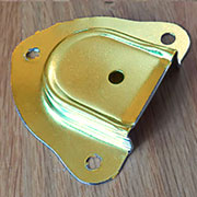 """B"" Brass Trunk Handle Cap for Leather Trunk Handles OBL-1771BP"
