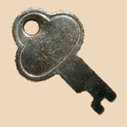 Nickel Trunk Key for Lock N-3815K OBT-46K