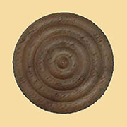 1-1/16 Inch Diameter Round Turned Walnut Wood Rosette W2-5750
