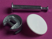 Concentric Twist Lock Fastener, Disc Post and Cap Set KE-25DU91