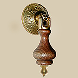 Eastlake Walnut and Cast  Brass Tear Drop Pull BW-1291