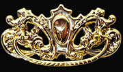 Victorian Stamped Brass Drawer Pull B-0867 BM-1152PB