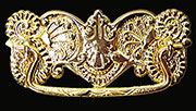 Victorian Stamped Brass Drawer Pull B-0837 BM-1154PB