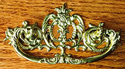Victorian Cast Brass Drawer Pull. 3 Inch Centers B-0690