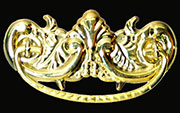 Victorian Drawer Pull in Stamped Brass B-0817 BM-1150PB
