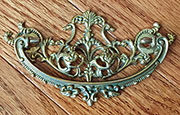 Victorian Cast Brass Drawer Pull G-34