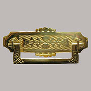 Eastlake Victorian Drawer Pull Cast Brass B-0631