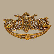 Victorian Cast Brass Drawer Pull with 3 Inch Centers B-0668