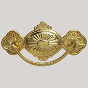 Eastlake Victorian Stamped Brass Drawer Pull B-0877